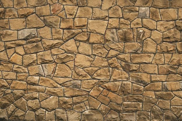 Stary kamienny mur. powierzchnia skał.