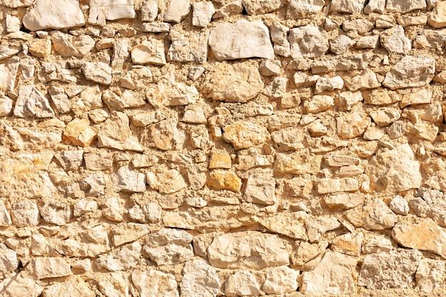 Stary mur wapienny, dla tła lub tekstury
