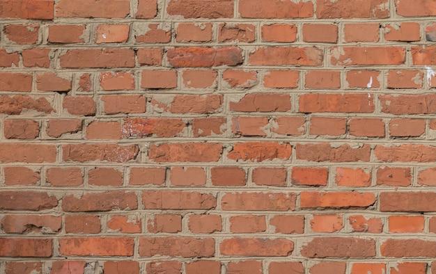 Stary mur z cegły vintage
