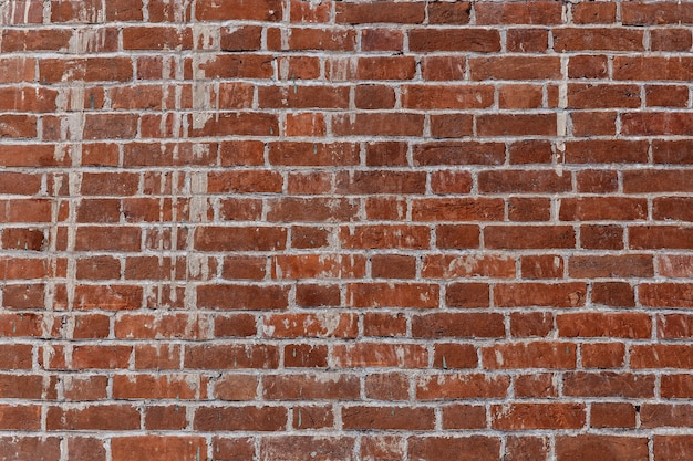 Stary mur z czerwonej cegły na obrazie w tle