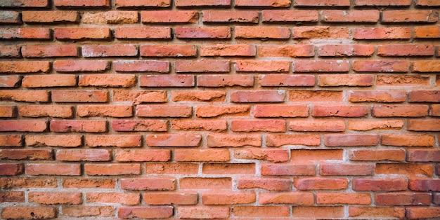 Stary mur z czerwonej cegły puste tło