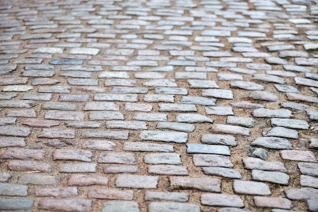 Stary niemiecki bruk tekstura kamienie.