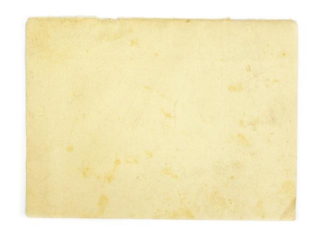 Stary papier firmowy na białym tle