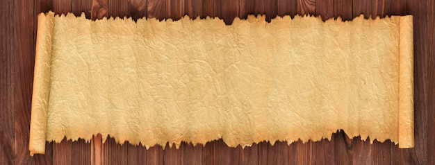 Stary papier na stole, panorama w wysokiej rozdzielczości