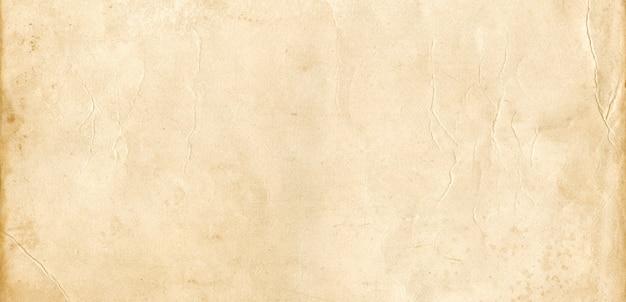 Stary papier pergaminowy tekstura tło. baner vintage tapeta