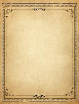 Stary papier z wzorzyste zabytkowe ramki - puste dla projektu