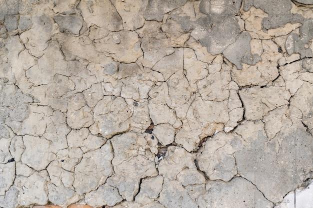 Stary pęknięty betonowy mur tekstura tło