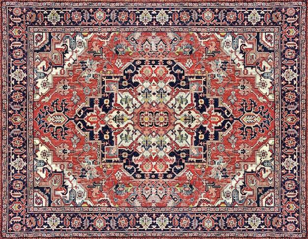 Stary perski dywan tekstury, abstrakcyjny ornament mleczno-niebieski