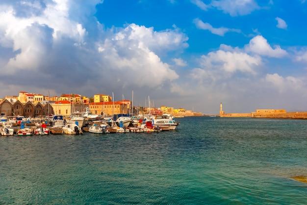 Stary port rano, chania, kreta, grecja