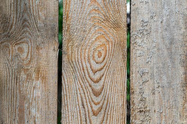 Stary Prosty Drewniany Płot. Premium Zdjęcia