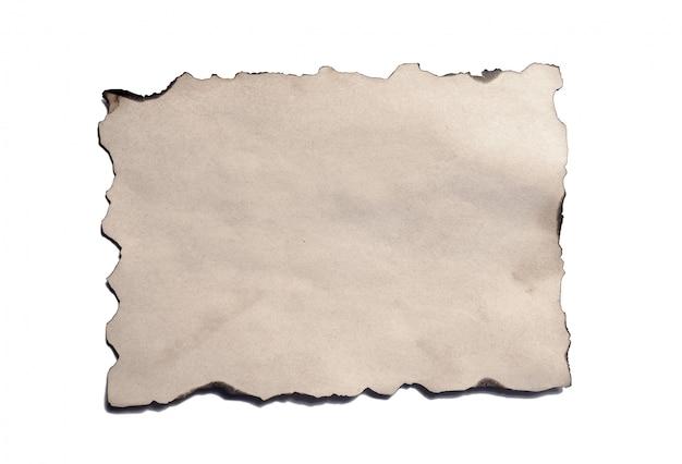 Stary pusty kawałek antyczne rocznika kruszenie papieru rękopis lub pergamin