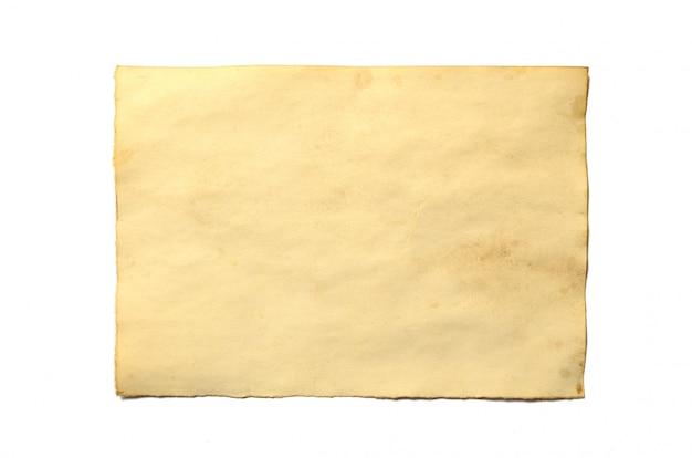 Stary pusty kawałek antykwarskiego rocznika rozdrabniania papieru manuskrypt lub pergamin