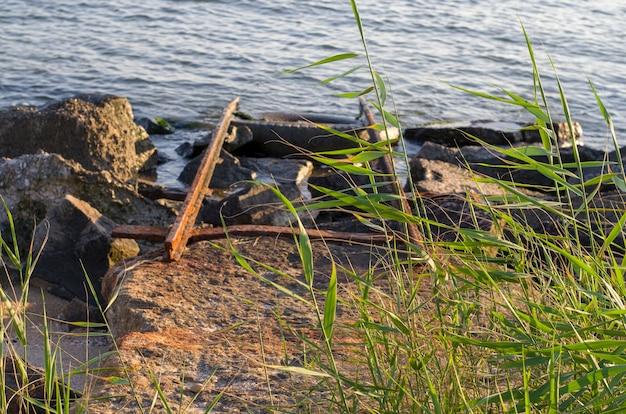 Stary ralway dla łodzi loadong