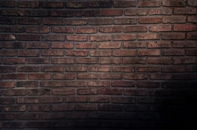 Stary rocznika ściana z cegieł, dekoracyjna ciemna ściana z cegieł powierzchnia dla tła