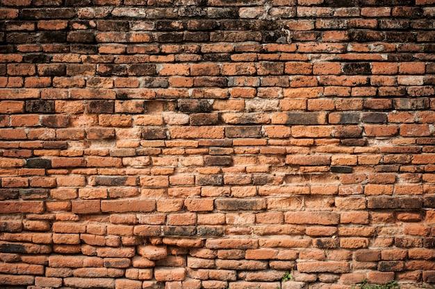 Stary rocznika ściana z cegieł tło