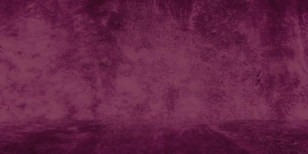 Stary shabby betonowa ściana tekstur z pękniętymi fioletowymi betonowymi ścianami studyjnymi abstrakcyjnymi...
