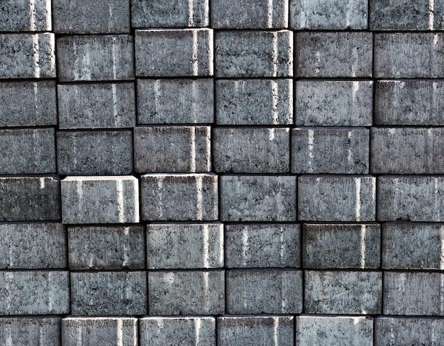 Stary szary ściana z cegieł tekstury tło
