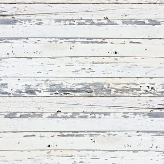 Stary tło białe deski drewniane.