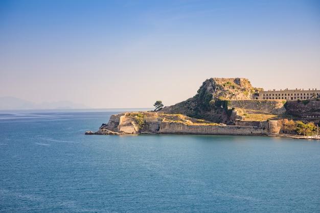 Stary wenecki forteca przy corfu, ionian wyspy, grecja