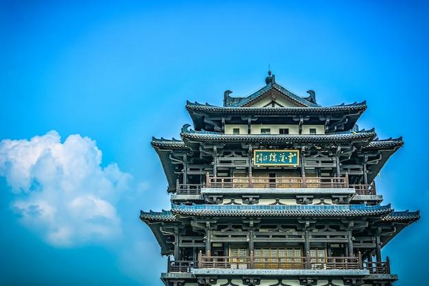 Stary wieżowiec w chinach