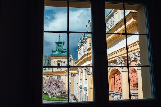 Stary zabytkowy pałac w warszawie wilanów polska