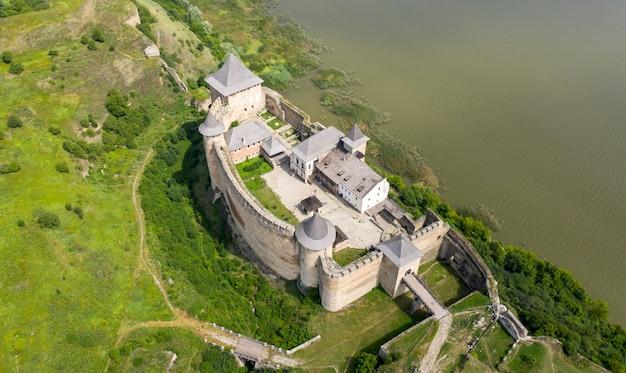 Stary zamek, widok z lotu ptaka