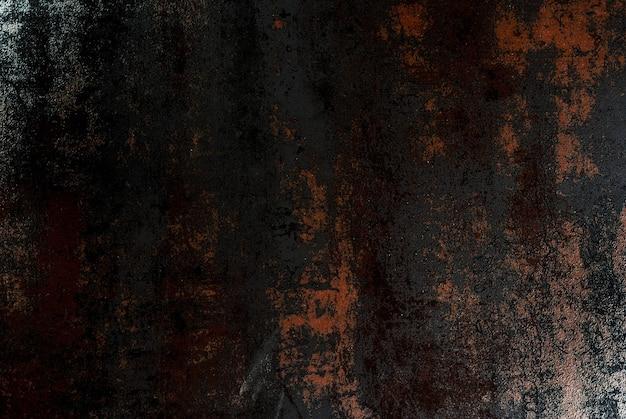 Stary zardzewiały metaliczny czarny, srebrzysty połysk, stół kuchenny