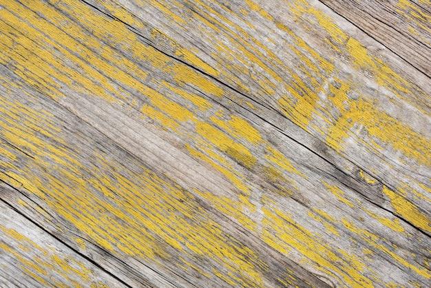 Stary żółty drewniany textured tło projekt