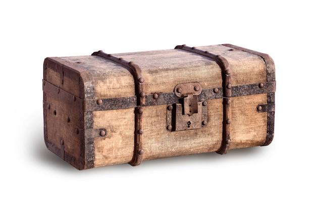 Stary, zużyty i brudny bagażnik parowca