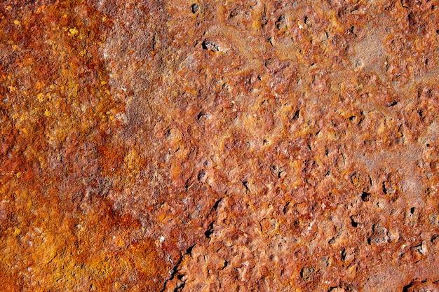 Starzejący się rdzewiejący żelazny stalowy tekstury tło