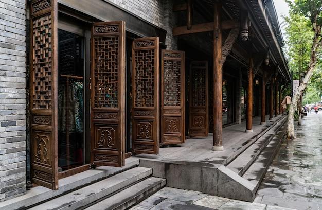 Starzy budynki w kuan alei i zhai alei, chengdu, sichuan