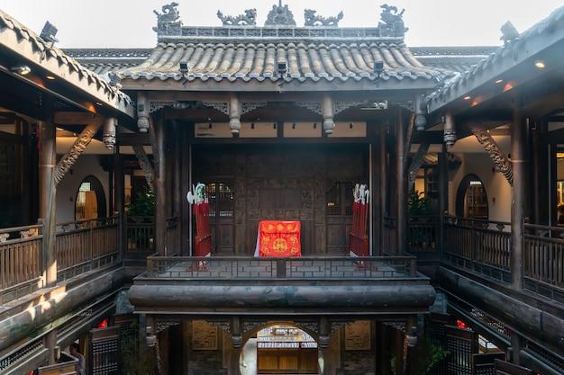 Starzy budynki w kuan alley i zhai alley, chengdu, syczuan