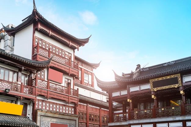 Starzy budynki w szanghaj yu ogródzie