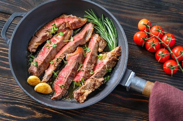 Stek wołowy na patelni