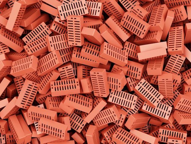 Sterta czerwonych cegieł. budowa
