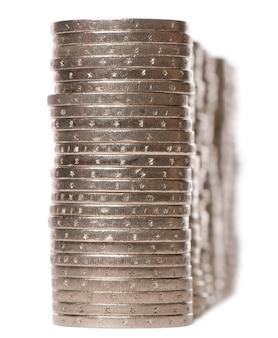Sterta euro monety na bielu odizolowywającym
