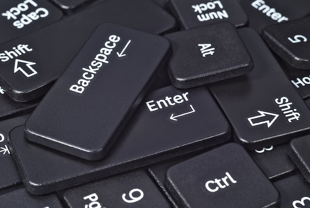 Sterta przycisków klawiatury z bliska