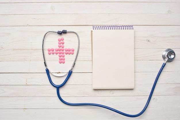 Stetoskop notatnik medycyna leczenie farmaceutyczne