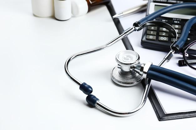 Stetoskop z bliska