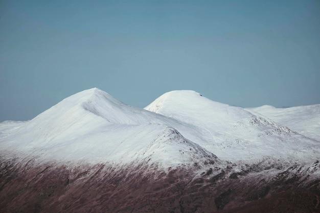 Stob dearg w glen coe w szkockich górach, wielka brytania