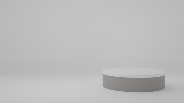 Stojak na produkt w białym pokoju scena studyjna dla produktu minimalny projektrenderowanie 3d