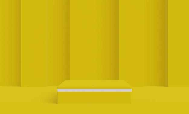 Stojak na produkty geometryczne na podium