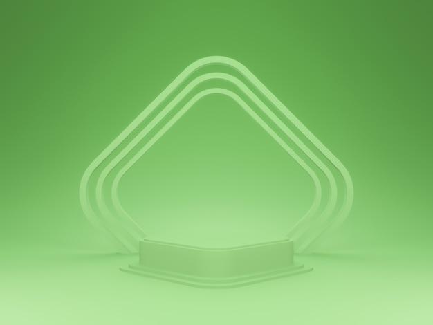Stojak produktowy 3d. zielone podium.