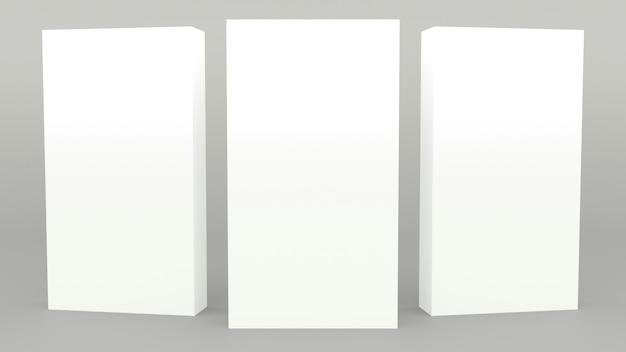 Stojak reklamowy banner szara scena minimalne renderowanie 3d nowoczesne minimalistyczne