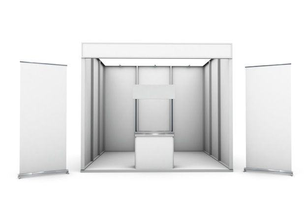 Stojak wystawowy izolowany z dwoma zrolowanymi