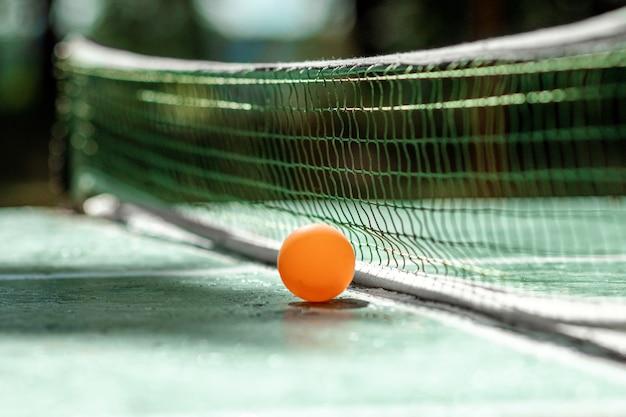 Stół do ping ponga, gra w piłkę w przyrodzie