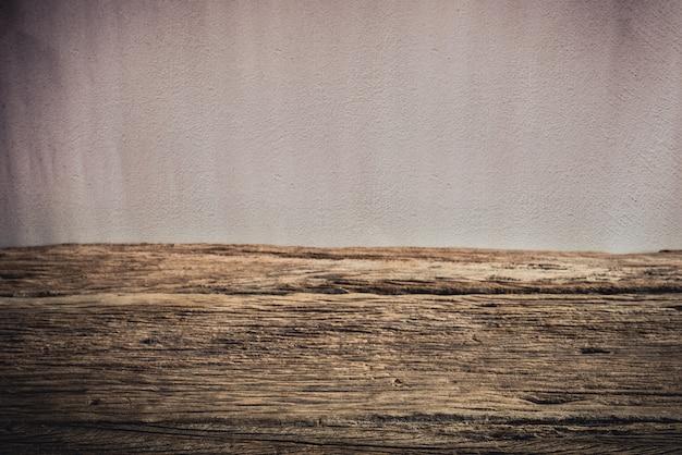 Stół drewniany pokład na tło grunge