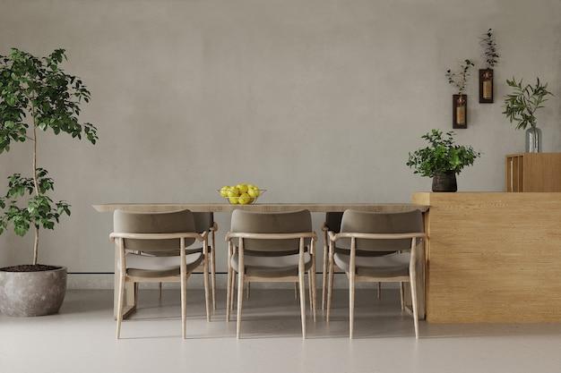 Stół i krzesła w pokoju