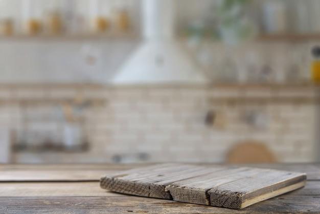 Stół kuchenny z płytą kuchenną. makieta