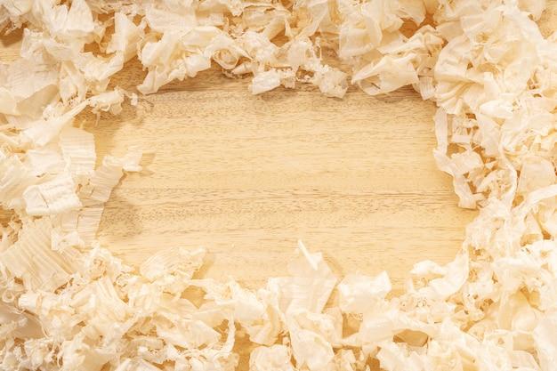 Stolarstwo lub obróbka drewna tło z miejsca na kopię